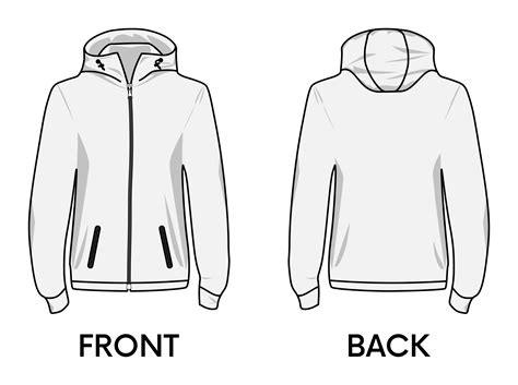 hoodie design outline hoodie clipart template clipartxtras