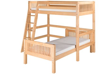 l for bed headboard camaflexi twin over twin loft bed l shape mission