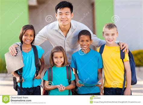Royalty Free School Children Stock by Elementary Students Royalty Free Stock Photos