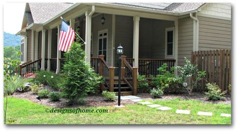 wrap around porch landscaping