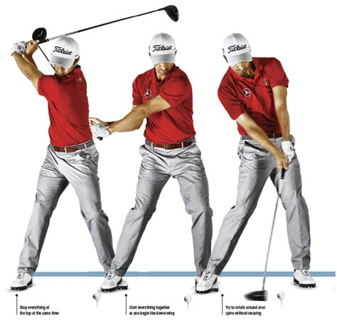 golf swing topping the ball cover the ball golf swing golf monthly