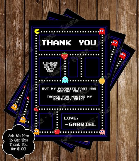 Novel Concept Designs Classic Pac Man Birthday Party Invitation Pac Birthday Invitation Template