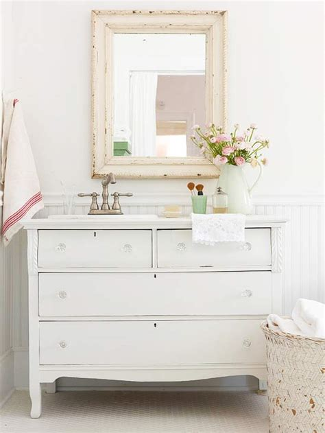 dresser style bathroom vanity cottage style bathrooms a blog makeover the inspired room