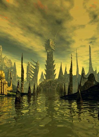 rlyeh art  city  cthulhu  p lovecraft interesting