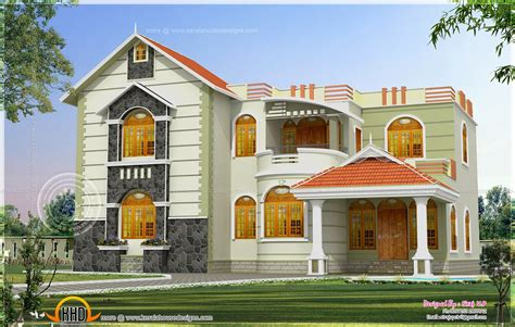one house exterior design in two color combinations kerala home with combination of images