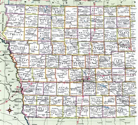 map of iowa iowa county map