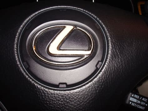 lexus steering wheel logo steering wheel emblem chrome peeling club lexus forums