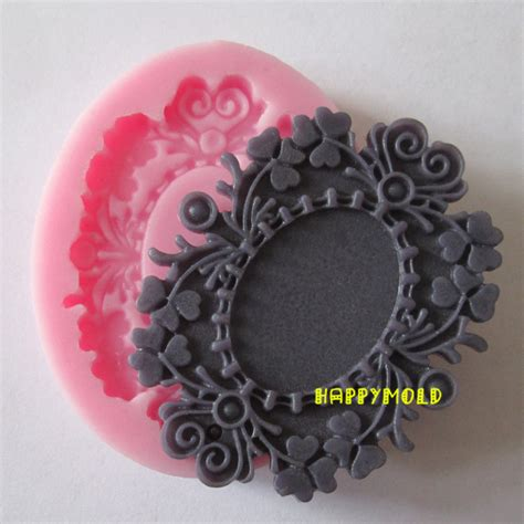 Cake Decorating Molds by Single Bronze Mirrors Resin Molds Fondant Mold Silicone