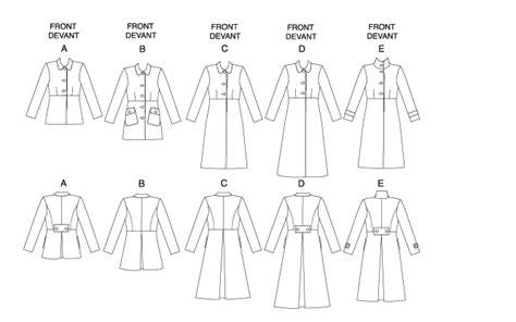 jacket pattern types butterick 5145 misses coat