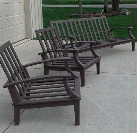 cypress patio furniture set etsy   teak patio