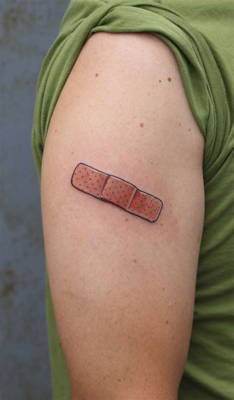if i get a its of a band aid tattoos
