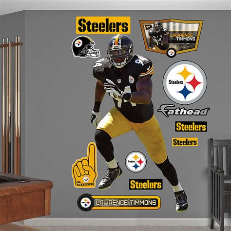 Steelers Decor by Size Timmons Wall Decal Shop Fathead 174 For