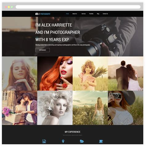 wordpress free themes image gallery lt photography free responsive image gallery wordpress