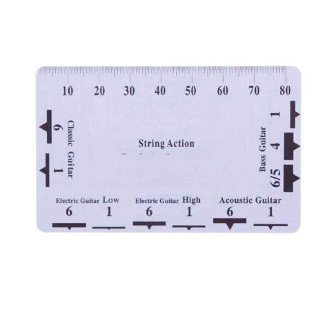 printable guitar ruler bulkprice shop guitar string action pitch ruler measuring