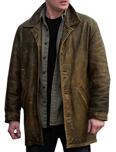 Ironman House by Dean Winchester Leather Jacket Distressed Supernatural