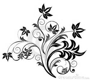 black flower pattern stock images image 14656714