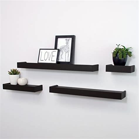 set of 6 floating wall mounted shelves display storage home decor black new ebay floating display ledge shelves set of 4 wall mount shelf