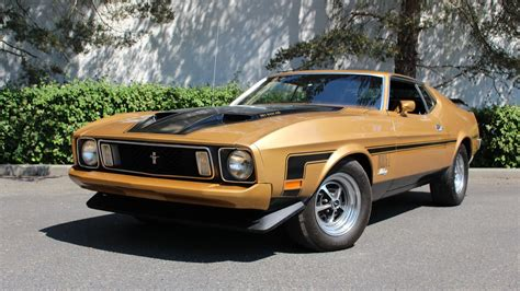 1973 Ford Mustang Sportsroof Fastback Mach 1 Burnt Orange For Sale Used Cars For Sale 1973 Ford Mustang Mach 1 Fastback F264 Seattle 2015