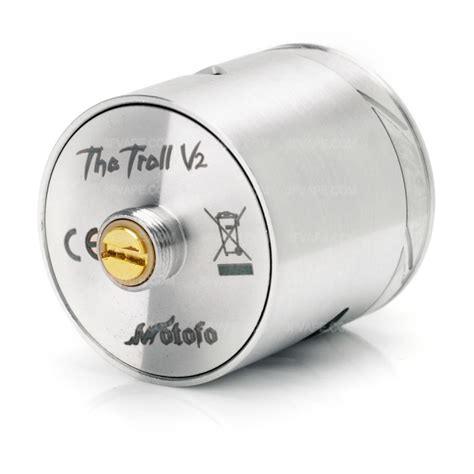 The Troll V2 25mm Rda Atomizer Silver Authentic Sku02039 Authentic Wotofo The Troll Rda V2 25 Silver Rebuildable