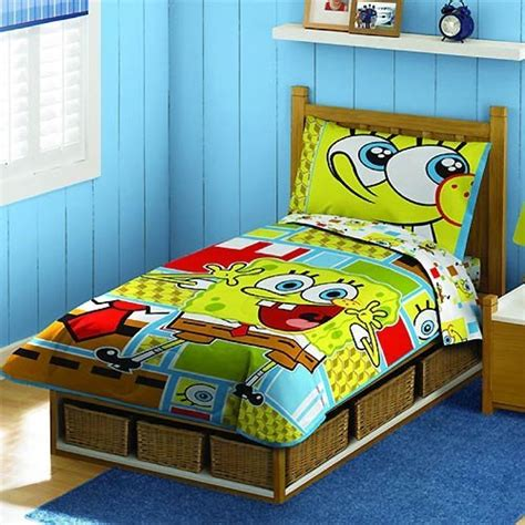 spongebob squarepants bedroom set spongebob squarepants bedding 4 piece toddler bedding