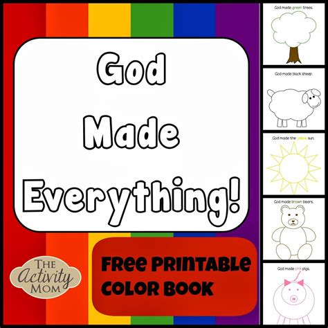 Pdf Food God Everything by Seven Days Of Creation Free Printable Sunday School And
