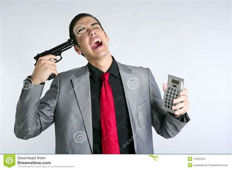 Formal News by Businessman Formal Suit Bad News Reports Stock Images
