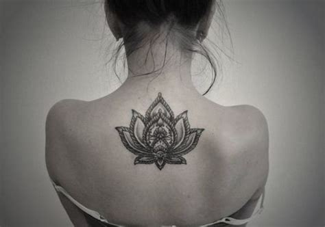 Lotus Flower Back Showing Back Mandala Lotus Flower
