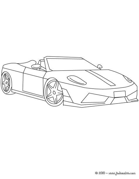 Dessins Gratuits à Colorier - Coloriage Ferrari à imprimer