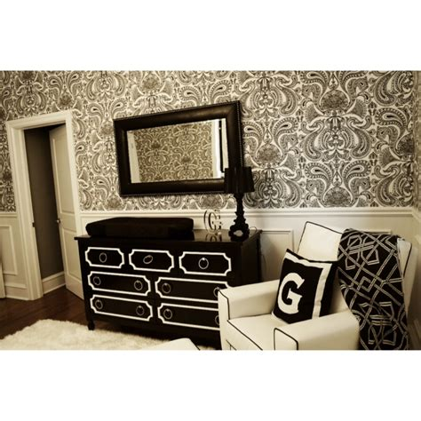 chic black and white nursery project nursery