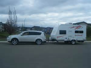 Mitsubishi Trailer Towing A Travel Trailer With A Outi Page 2