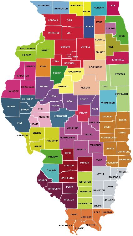 map of illinois cities and counties