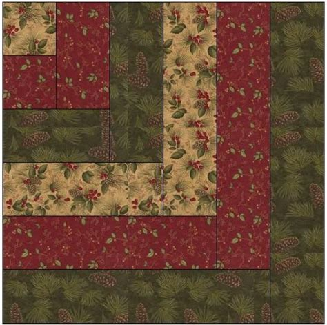 Log Cabin Quilt Pattern Modified Log Cabin Quilt Block By Feverishquilter Craftsy