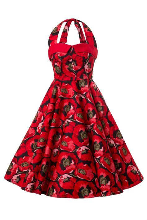 red swing 1950s poppy seed red swing dress