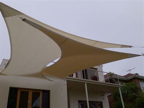 sun shade awnings this is a creative use of sail awnings for shading large
