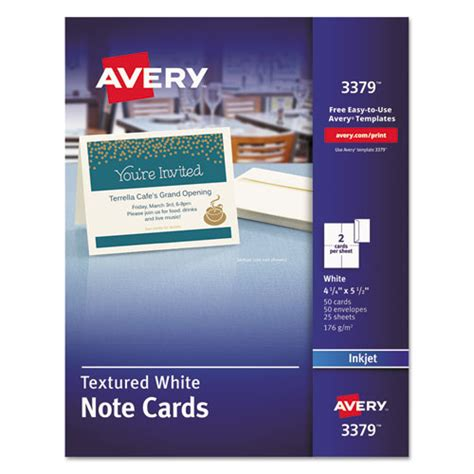 Avery Templates For Note Cards by Ave3379 Avery Textured Note Cards Zuma