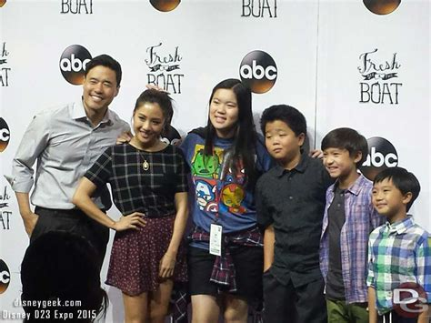 cast fresh off the boat the fresh off the boat cast meeting fans at d23expo the