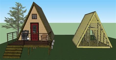Small A Frame Cabin Plans by 14 X14 Tiny A Frame Cabin Plans By Lamar
