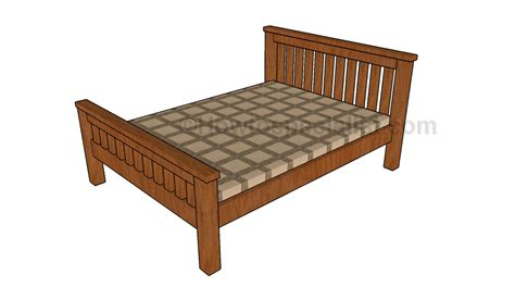 plans for a bed frame size bed frame plans howtospecialist how to build step by step diy plans