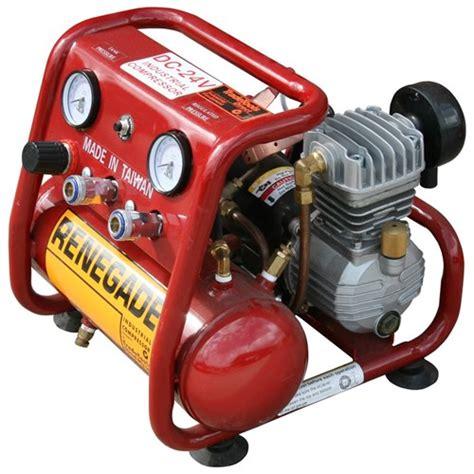 dc24 156 renegade industrial compressor 24v 30 40s 156lpm air compressors tradetools