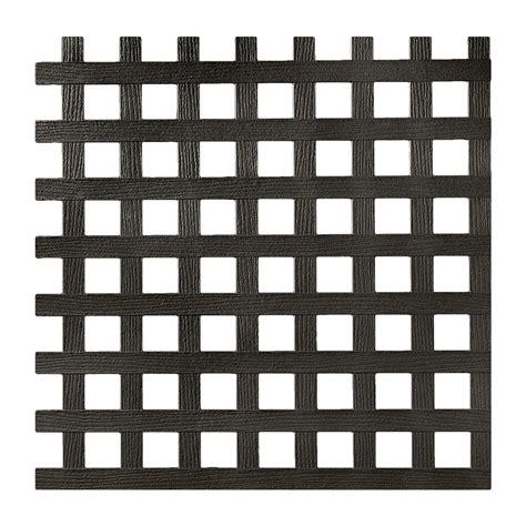 square pattern vinyl lattice 0 2 in x 48 in x 8 ft black privacy square plastic