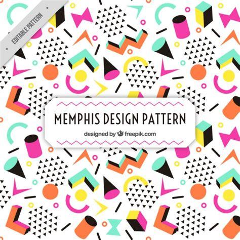 memphis pattern ai colorful figures memphis pattern vector free download