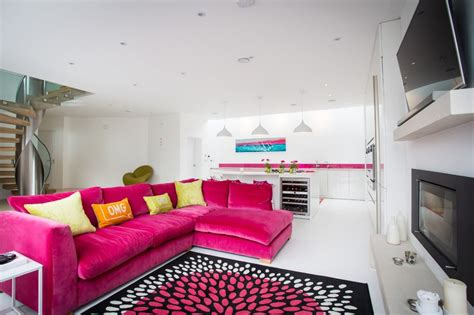 Room Decors by Pink Sofa For Living Room The Current Decorating