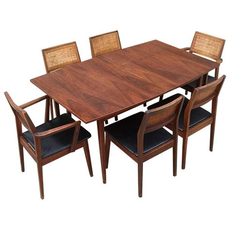 late 1970 s hibriten bernhardt dining room set furniture late 1950s classic american modernist solid walnut