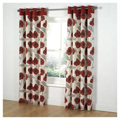 poppy curtains red poppy print eyelet curtains curtain menzilperde net