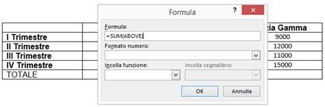 word tabelle löschen word formule e funzioni di calcolo nelle tabelle
