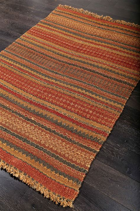 rugs fiber casual fiber brown orange jute rug 36223