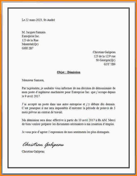 Exemple De Lettre De Démission Suisse 6 exemple lettre type modele de lettre