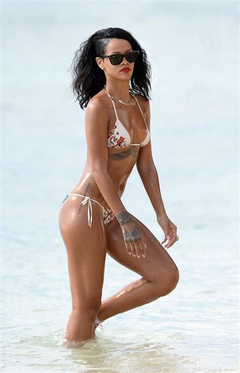 rihanna best celebrity bodies rihanna showed off her bikini body when she hit the beach