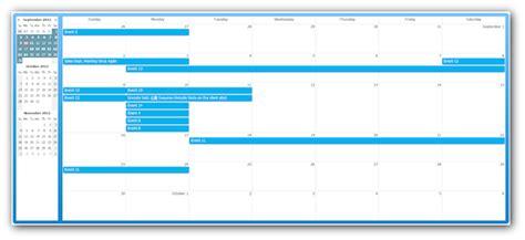 css calendar tutorial css monthly event calendar daypilot documentation