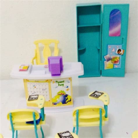 barbie doll house furniture sets barbie size dollhouse furniture classroom play set barbie collectibles